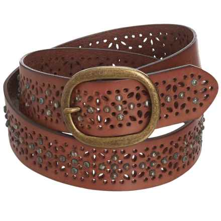 Woolrich Alderglen Leather Belt (For Women) in Mahagony - Closeouts