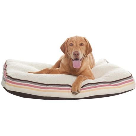 "Woolrich Alleghany Stripe Pillow Dog Bed - 27x36"" in Cream"