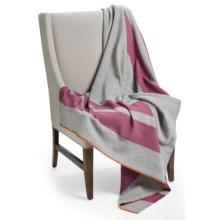 "Woolrich Allegheny Throw Blanket - Wool, 56x70"" in Boysenberry Stripe - Closeouts"
