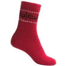Woolrich Aloe Double-Layer Sheep Socks - 3/4 Crew (For Women) in Ruby - Closeouts