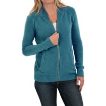 Woolrich Alpine Ascent Bomber Sweater - Zip Front (For Women) in Mineral Blue - Closeouts