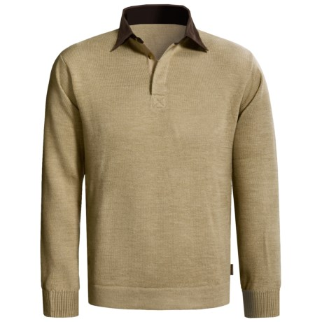 Woolrich Alpine Valley Henley Sweater (For Men) in Khaki Heather