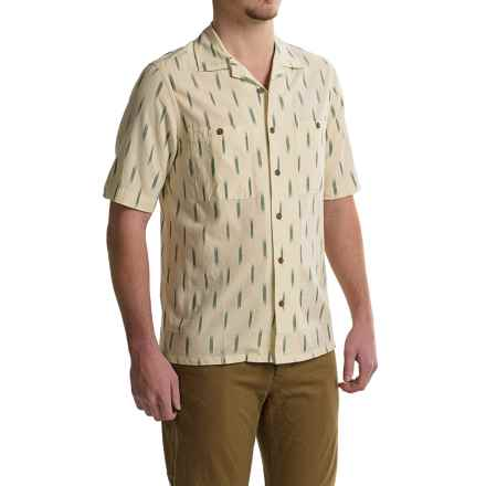 Woolrich Altitude Shirt - Short Sleeve (For Men) in Wool Cream - Closeouts