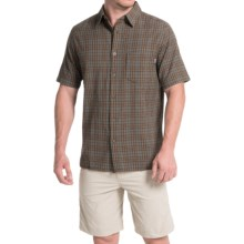 Woolrich Amblewood Madras Plaid Shirt - Short Sleeve (For Men) in Field Gray - Closeouts