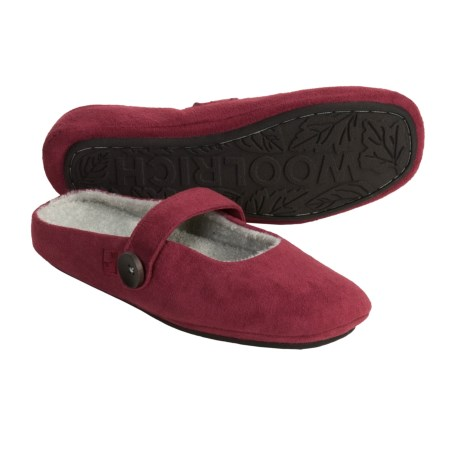 Woolrich Ambridge Slippers - Microsuede (For Women) in Ruby
