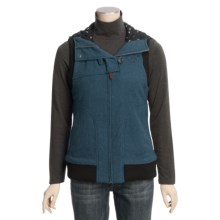 Woolrich Amira Embroidered Vest - Wool, Insulated (For Women) in Majolica Blue Heather - Closeouts