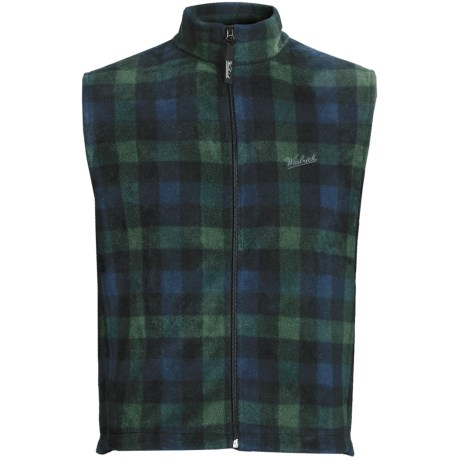 Woolrich Andes Fleece Plaid Vest (For Men) in Black Watch