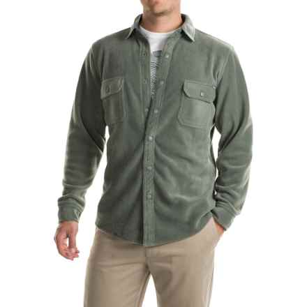 Woolrich Andes Fleece Shirt Jacket (For Men) in Field Grey - Closeouts