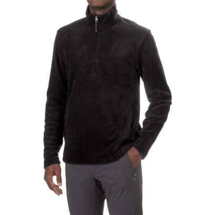 Woolrich Andes Fleece Shirt - Zip Neck, Long Sleeve (For Men) in Black - Closeouts