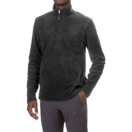 Woolrich Andes Fleece Shirt - Zip Neck, Long Sleeve (For Men) in Charcoal Heather - Closeouts