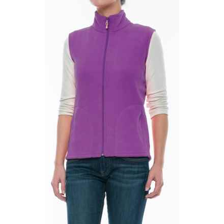 Woolrich Andes Fleece Vest - Full Zip (For Women) in Hydrangea - Closeouts