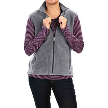 Woolrich Andes Fleece Vest - Full Zip (For Women) in Matte Gray Heather - Closeouts