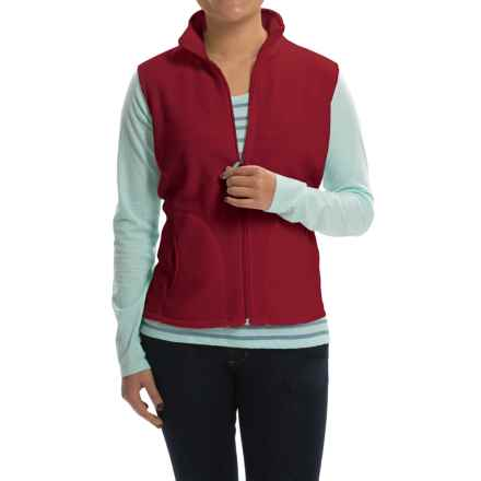 Woolrich Andes Fleece Vest - Full Zip (For Women) in Scarlet - Closeouts