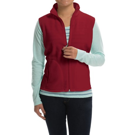 Woolrich Andes Fleece Vest - Full Zip (For Women) in Scarlet