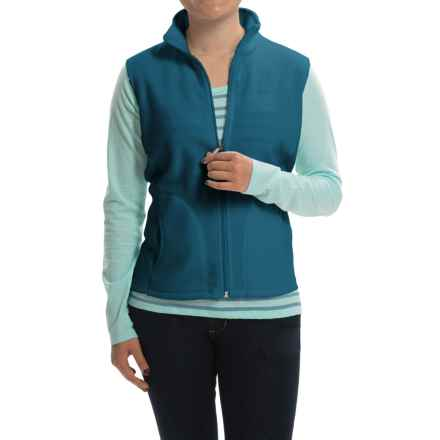 Woolrich Andes Fleece Vest - Full Zip (For Women) in Seaport - Closeouts