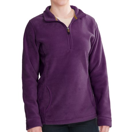 Woolrich Andes Fleece Zip Pullover (For Women) in Egp Eggplant