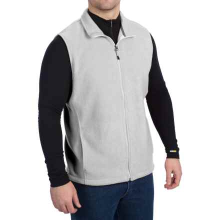 Woolrich Andes II Fleece Vest (For Men) in Light Grey Heather - Closeouts
