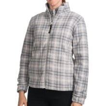 Woolrich Andes Plaid Fleece Jacket - UPF 40+ (For Women) in Frost Hunt - Closeouts