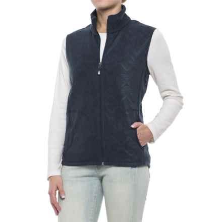 Woolrich Andes Printed Fleece Vest - Full Zip (For Women) in Deep Indigo - Closeouts