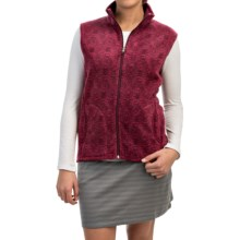 Woolrich Andes Printed Fleece Vest - Full Zip (For Women) in Deep Ruby - Closeouts