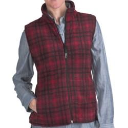 Woolrich Andes Printed Fleece Vest - UPF 40, Full Zip (For Women) in Red/Black Hunt