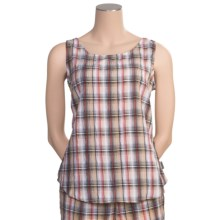 Woolrich Ansley Plaid Tank Top - UPF 30+ (For Women) in Melon Multi - Closeouts