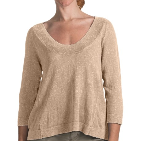 Woolrich Appledale Deep Crew Sweater - 3/4 Sleeve (For Women) in Dark Stone