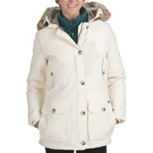 Woolrich Arctic Down Filled Parka - 550 Fill Power, Removable Fur Trim (For Women) in Ecru - Closeouts