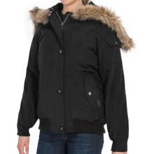 Woolrich Arctic Down Jacket - 550 Fill Power, Removable Faux-Fur Trim (For Women) in Black - Closeouts
