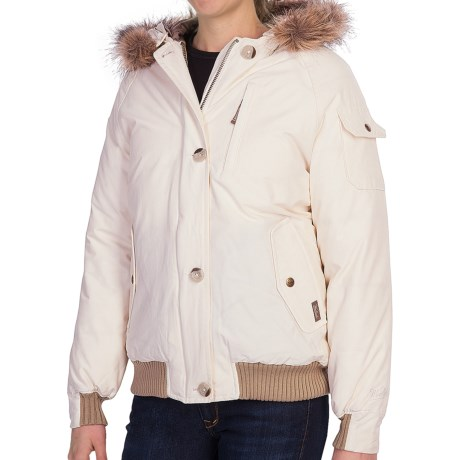 Woolrich Arctic Down Jacket - 550 Fill Power, Removable Faux-Fur Trim (For Women) in Ruby
