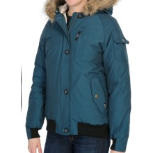 Woolrich Arctic Down Jacket - 550 Fill Power, Removable Faux-Fur Trim (For Women) in Majolica Blue - Closeouts