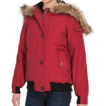 Woolrich Arctic Down Jacket - 550 Fill Power, Removable Faux-Fur Trim (For Women) in Ruby - Closeouts