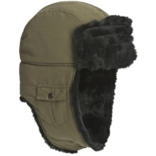 Woolrich Arctic Trooper Hat - Faux-Fur Trim, Fleece Lining (For Men) in Olive - Closeouts