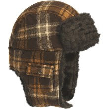 Woolrich Arctic Trooper Hat - Wool, Faux-Fur Trim, Ear Flaps (For Men) in Wood - Closeouts
