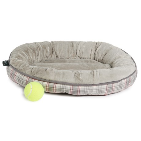 "Woolrich Aspen Plaid Oval Dog Bed - 20"" in Gray"