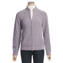 Woolrich Atglen Cardigan Sweater - Lambswool, Donegal Tweed, Full Zip (For Women) in Light Ultra Violet Heather - Closeouts