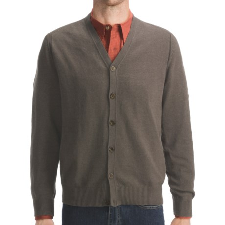 Woolrich Atlas Cardigan Sweater (For Men) in Dark Shale Heather