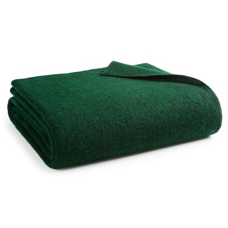 Woolrich Atlas Twin Blanket - Wool Blend, Twin in Green