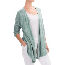 Woolrich Audrey Peak Cardigan Sweater - 3/4 Sleeve (For Women) in Shoreline - Closeouts