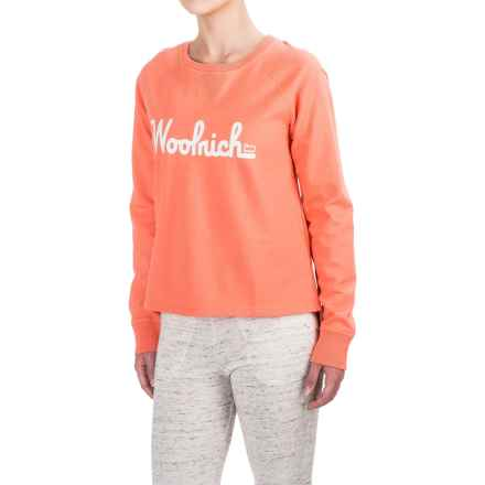 Woolrich Aunt Clara Sweatshirt (For Women) in Guava - Closeouts