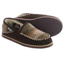 Woolrich Austin Potter Slide Slippers - Wool and Suede (For Men) in Java/Camo Wool - Closeouts