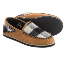 Woolrich Austin Potter Slide Slippers - Wool and Suede (For Men) in Spice/Black/White Buffalo Check Wool - Closeouts