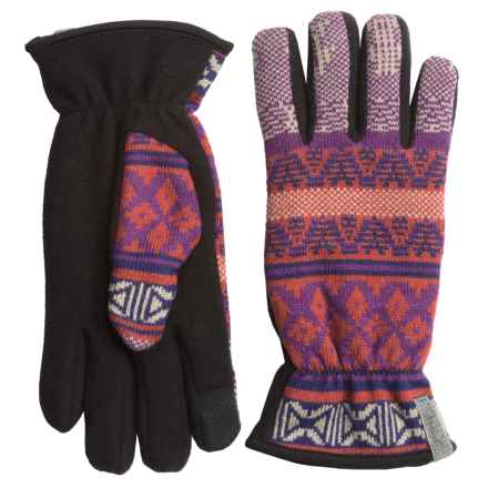 Woolrich Avalanche Gloves - Touchscreen Compatible, Fleece Lined (For Women) in Red Rock Multi - Closeouts