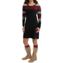 Woolrich Avalanche Henley Sweater Dress - Long Sleeve (For Women) in Black - Closeouts