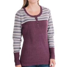Woolrich Avalanche Henley Sweater (For Women) in Fig - Closeouts