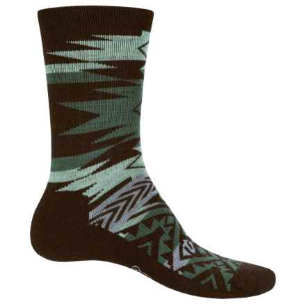 Woolrich Avalanche Socks - Merino Wool, Crew (For Men and Women) in Dark Sable - Closeouts