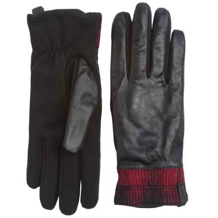 Woolrich Avondale Leather Gloves - Fleece Lined (For Women) in Black - Closeouts