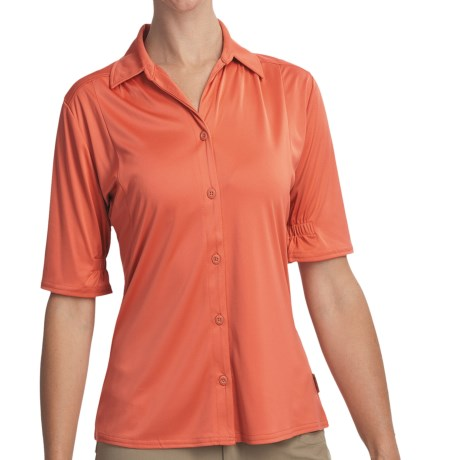 Woolrich Avondale Shirt - UPF 50+, Stretch, Short Sleeve (For Women) in Calypso