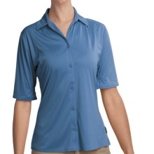 Woolrich Avondale Shirt - UPF 50+, Stretch, Short Sleeve (For Women) in Light Blue Moon - Closeouts