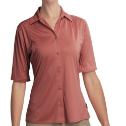 Woolrich Avondale Shirt - UPF 50+, Stretch, Short Sleeve (For Women) in Light Raisin